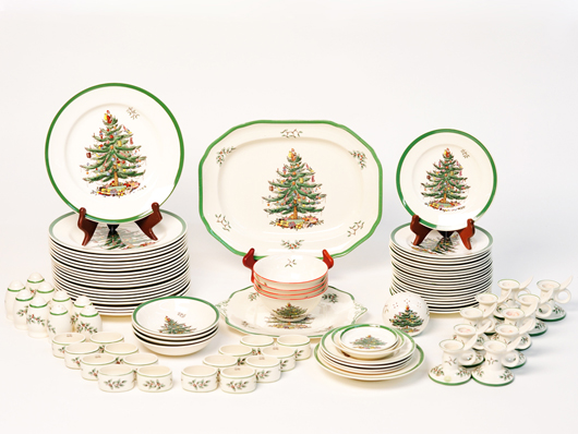 Ceramics Collector: Spode's Christmas Tree Pattern
