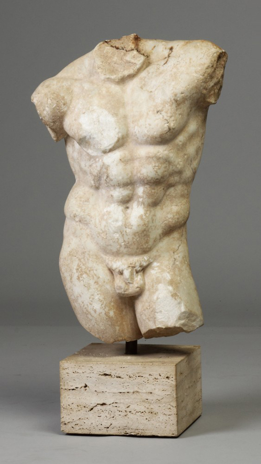 Ancient Marble Could Sell $188,800 at Cottone Auctions