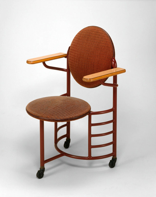 Frank Lloyd Wright Designed Chair For The Johnson Wax Headquarters,  Manufactured By Steelcase Inc