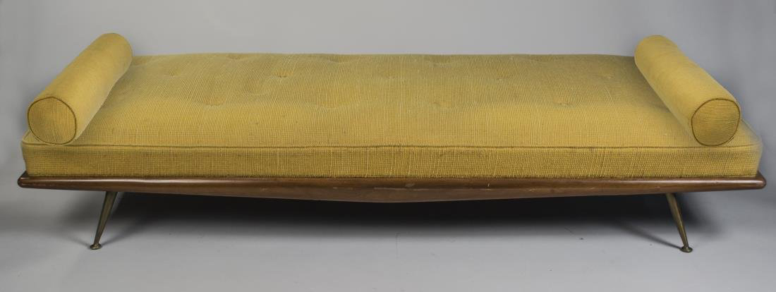 Mid-Century modern daybed, M. Prisiantelli label on the bottom. Sold for - Midcentury And Asian Took The Lead In Capo's Aug. 29 Auction