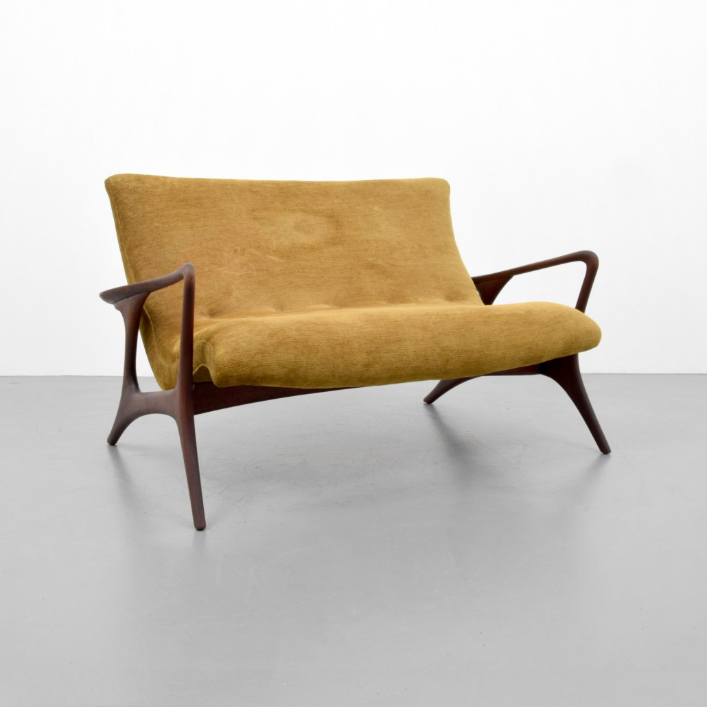 contemporary art furniture. vladimir kagan u0027contouru0027 loveseatsofa walnut frame with upholstery est contemporary art furniture t