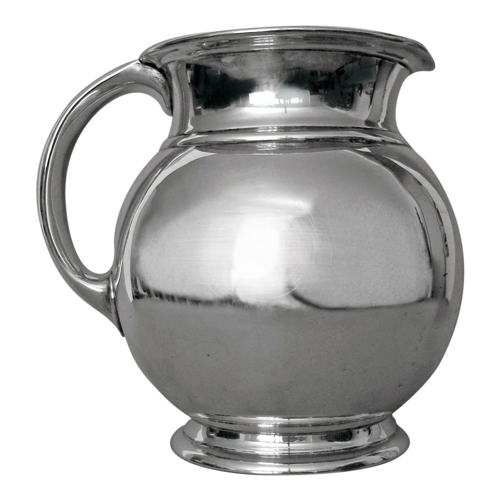 Cartier Art Deco sterling silver pitcher, 1920s, 7 inches tall, 20 troy ounces. Estimate: $1,500-$2,000. Jasper 52 image