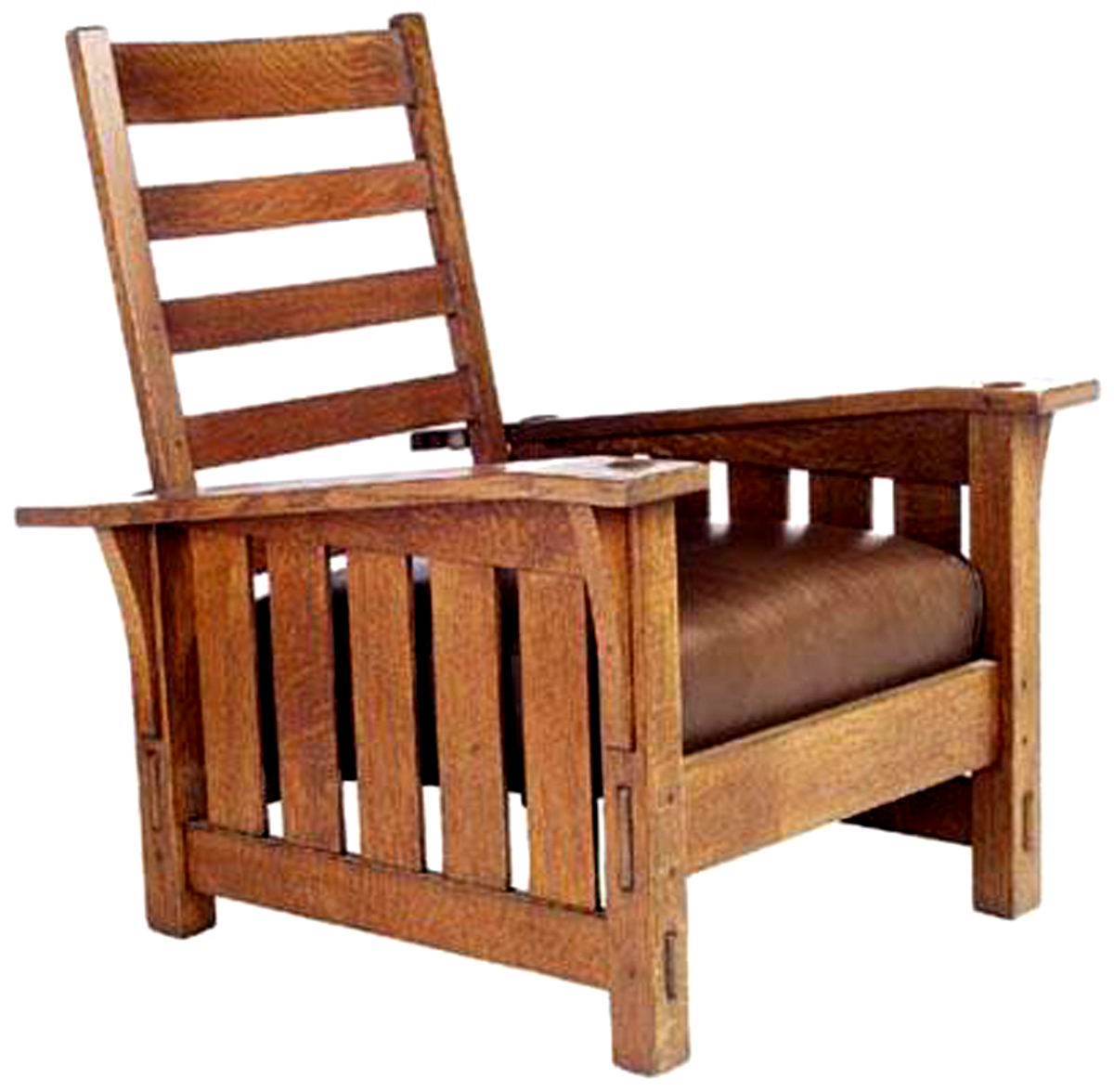 This Morris Chair Was Made By Gustav Stickley In The Early 20th Century.  The U0027