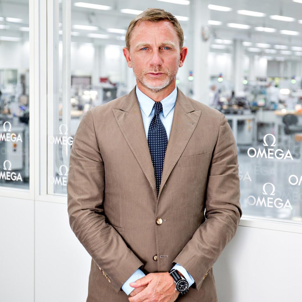 Actor Daniel Craig recently toured the Omega factory in Villeret Switzerland. Image courtesy of Omega