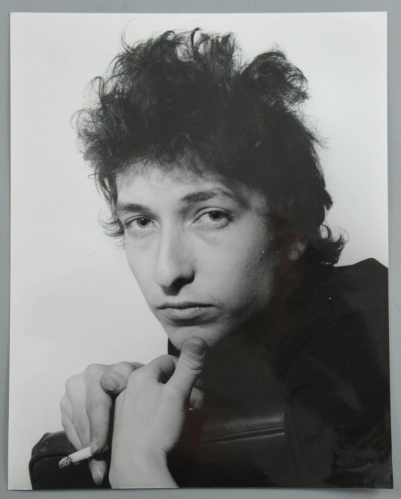 Bob Dylan by Harry Gooodwin. Photo Ewbank's auctioneers