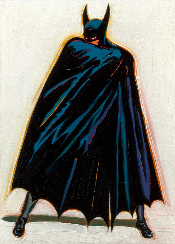 Mel Ramos, 'A Sinister Figure Lurks in the Shadows,' 1962, sold for $173,000 at Heritage Auctions NY. Image courtesy of Heritage Auctions