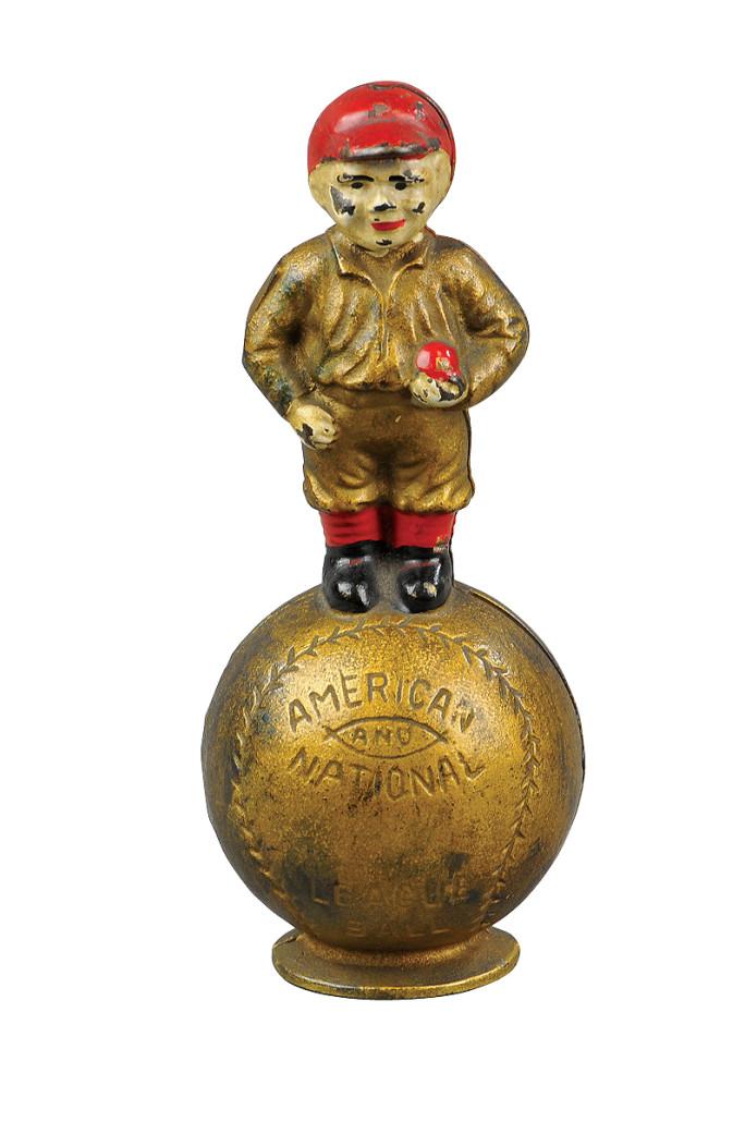 Hubley baseball-theme Mascot still bank, $7,200