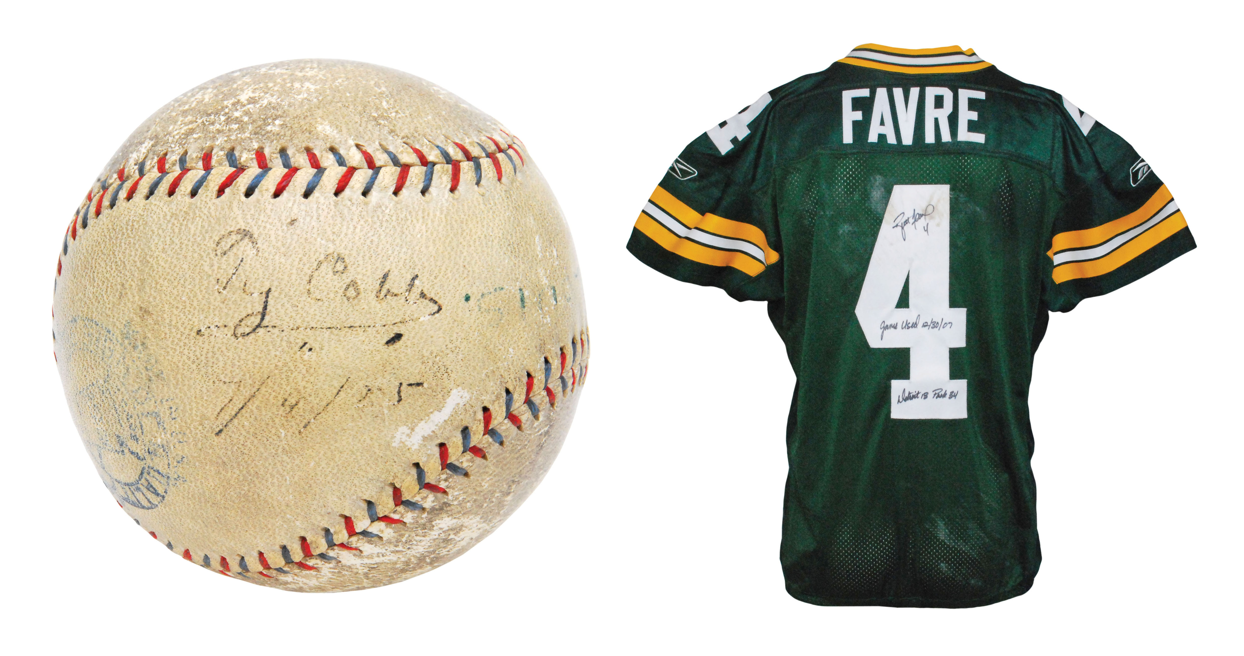 separation shoes cb8da 29d1a Signed Ty Cobb home-run ball starring at Grey Flannel auction