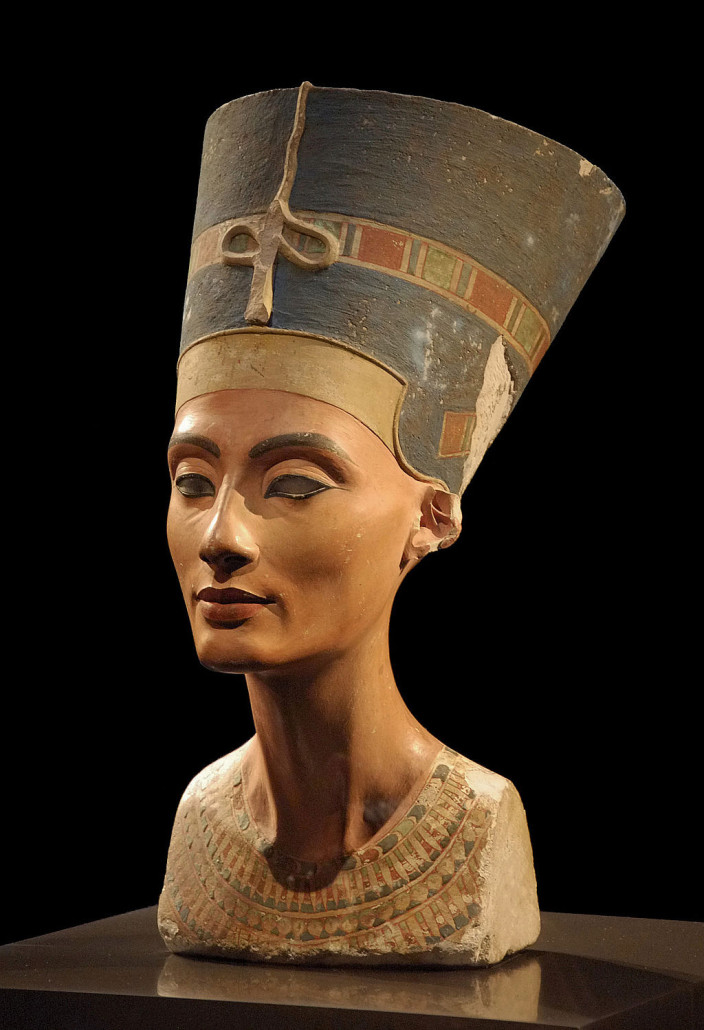 Bust of Nefertiti in Neues Museum, Berlin. Photo by Philip Pikart, licensed under the Creative Commons Attribution-Share Alike 3.0 Unported license.