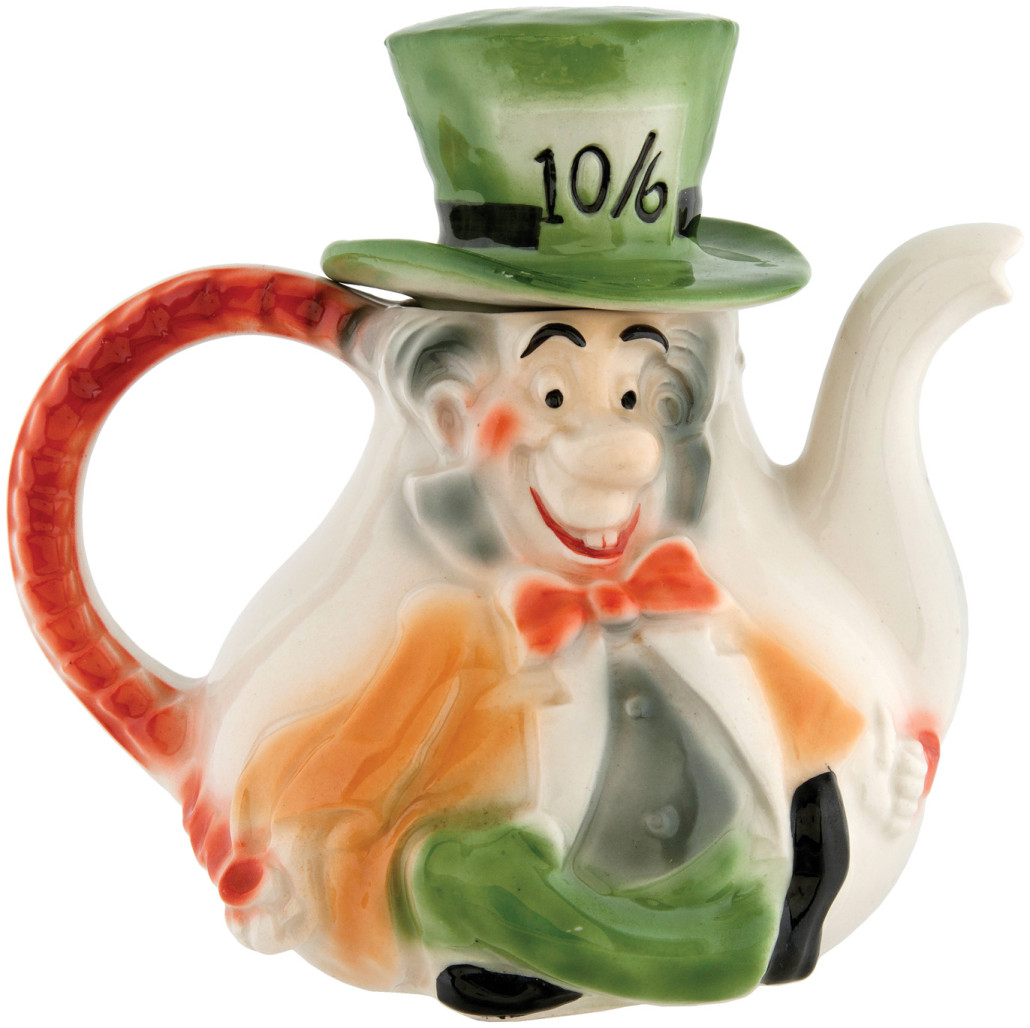 Circa-1951 prototype Mad Hatter figural teapot by Regal China, $15,307. Hake's image