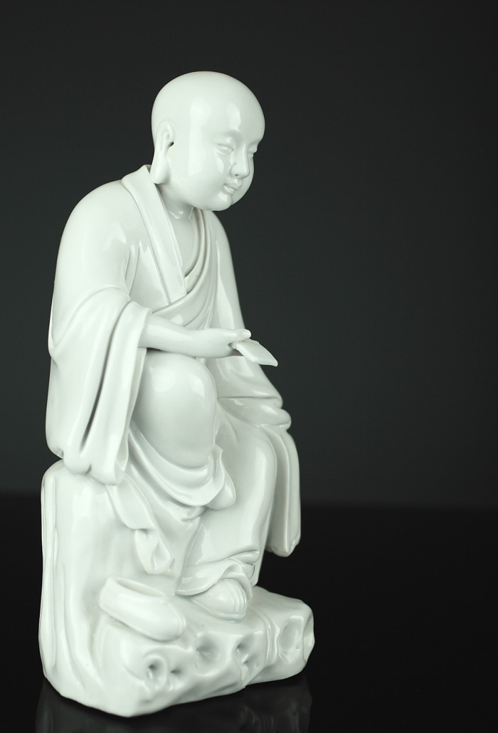 Vintage Chinese blanc de chine figure, 8½ inches tall, ex Christie's. Est. $800-$1,200