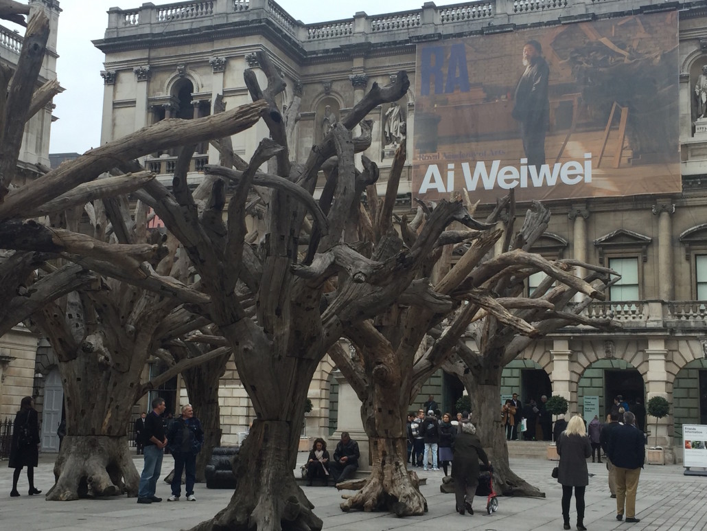 Fig. 1 — Ai Wei Wei at Royal Academy