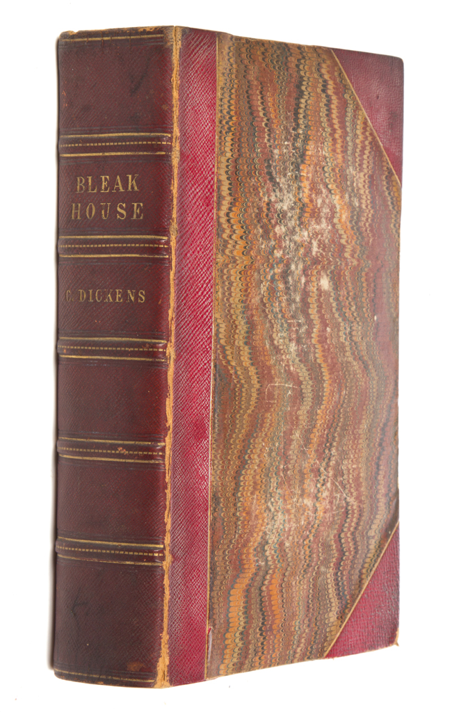 First edition 'Bleak House' by Charles Dickens, signed and inscribed by the author. Price realized: $16,100. Jeffrey S. Evans & Associates image