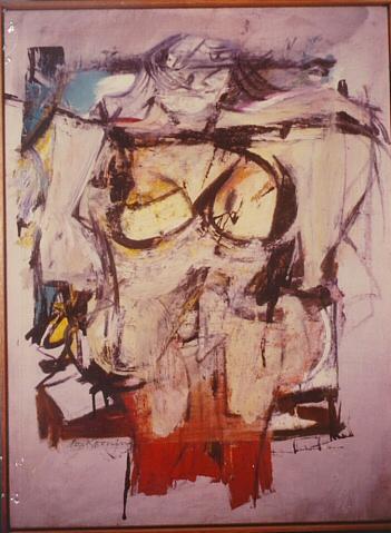 Willem de Kooning's 'Woman-Ochre.' FBI image