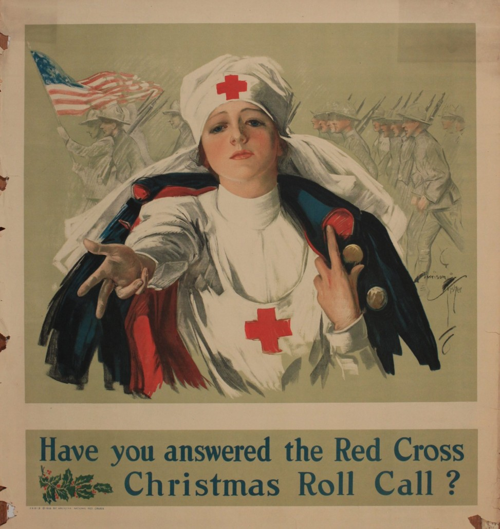 Lot 73 - Harrison Fisher 'Have you answered the Red Cross ,' printed in USA 1918. Estimate £70-£100. Onslows Auctioneers image