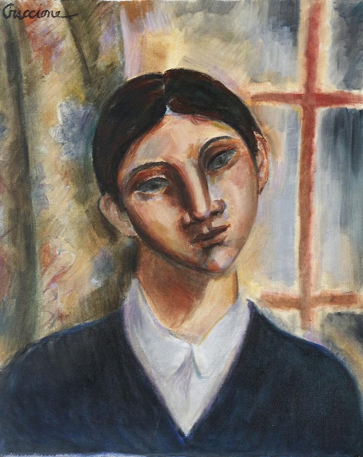 Bob Guccione (American 1930-2010), 'Tanner,' oil on canvas. BFA Auction image