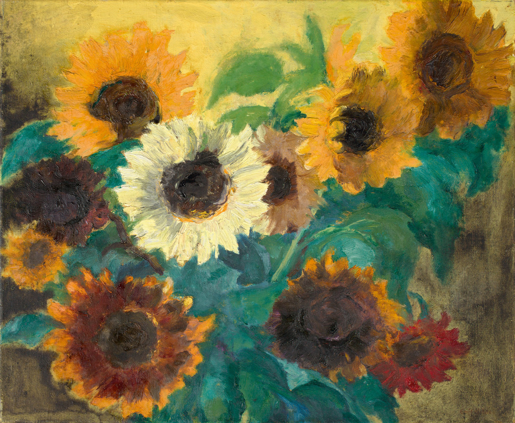 'Helles Sonnenblumenbild' by Emil Nolde fetched 1.4 million euros ($1.5 million) at Villa Grisebach's 250th auction. Photo courtesy Villa Grisebach