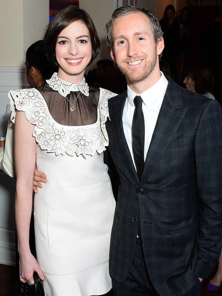 Anne Hathaway and Adam Shulman. Photo provided by LA Fine Art Show