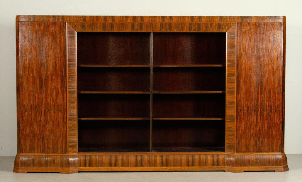 Jacques Emile Ruhlman (French, 1879 1933) Art Deco Bibliotheque. Estimate
