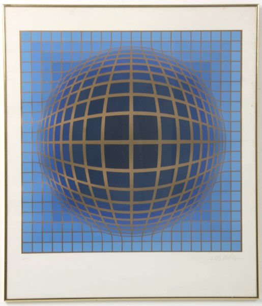 Artist proof lithograph, signed by Victor Vasarely (Hungarian/French, 1906-1997), untitled (est. $2,000-$3,000). Fontaine's Auction Gallery image