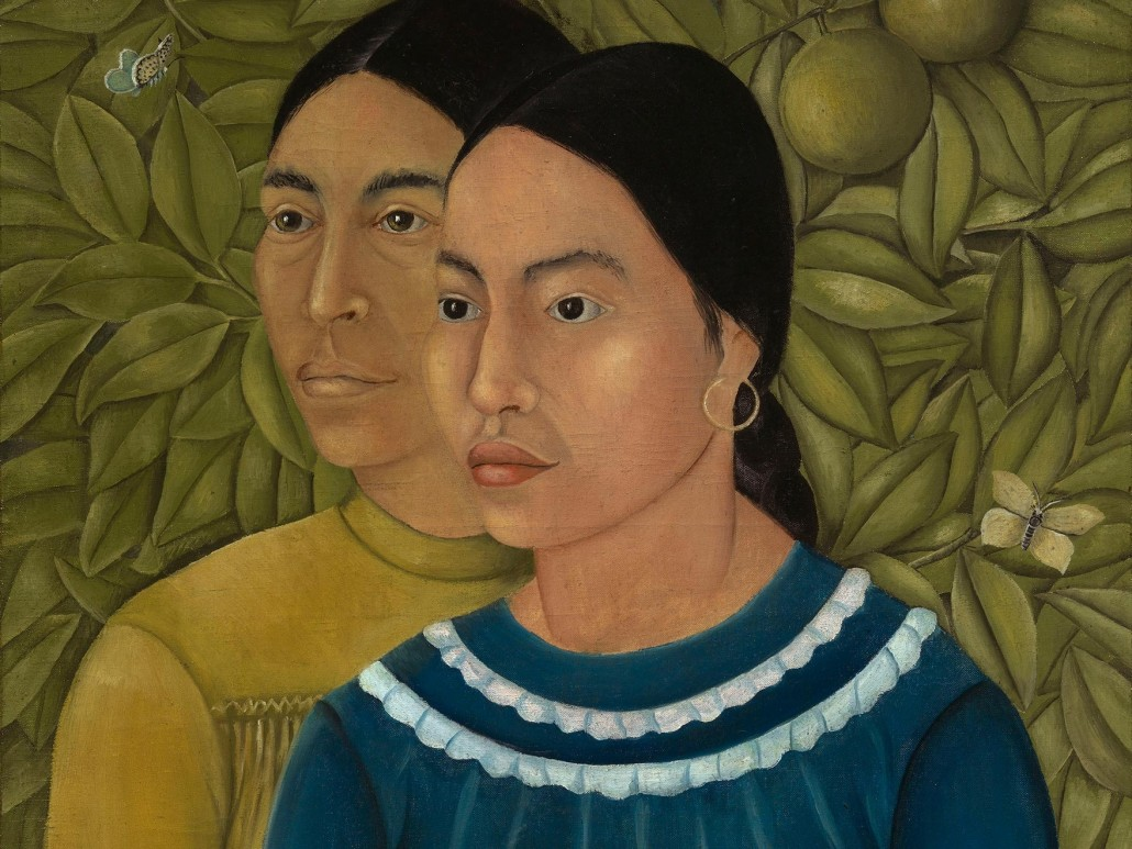 'Dos Mujeres (Salvadora y Herminia)' was the first painting ever sold by Frida Kahlo (1907–1954). © 2016 Banco de México Diego Rivera Frida Kahlo Museums Trust, Mexico, D.F. / Artists Rights Society (ARS), New York.
