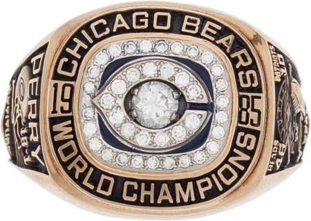 "William ""Refrigerator"" Perry Super Bowl ring, $203,150, purchased through LiveAuctioneers.com in a 2015 Heritage auction. Image courtesy of LiveAuctioneers Archive and Heritage Auctions"