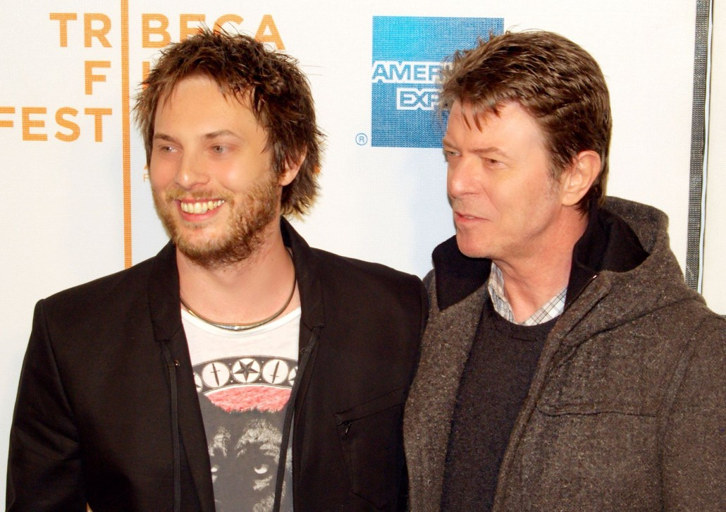 David Bowie at the 2009 Tribeca Film Festival with his son, Duncan Jones, at the premiere of Jones' directorial debut 'Moon.' Photo by David Shankbone, licensed under the Creative Commons Attribution 3.0 Unported license.