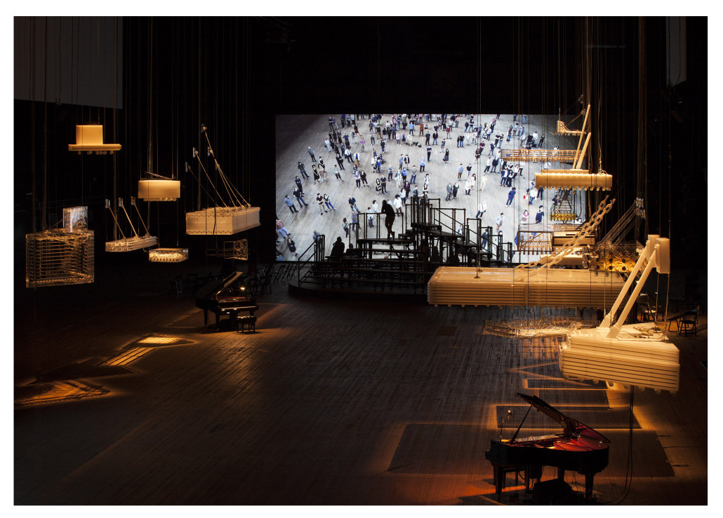 Parreno's 'H{N)Y P N(Y}OSIS' at Park Avenue Armory in New York. Tate image