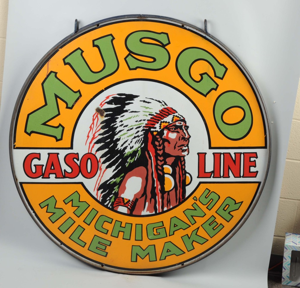 Musgo Gasoline sign