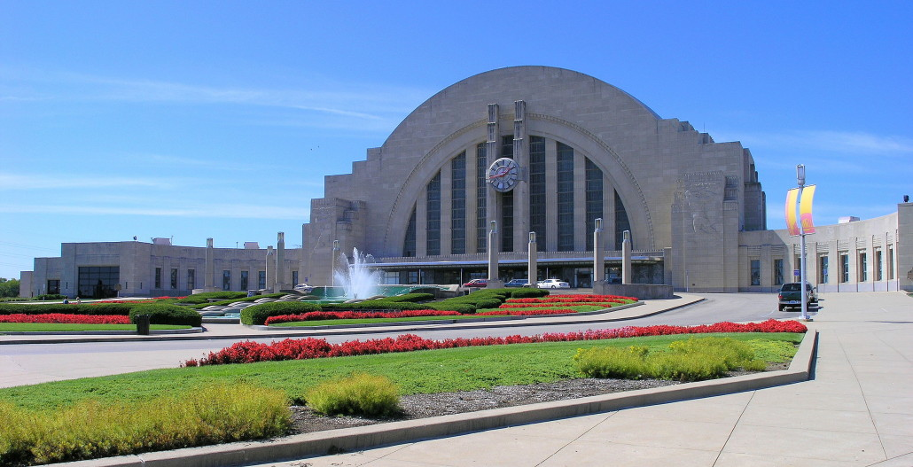 Cincinnati Union Terminal was completed in 1933 at a cost of $41.5 million. Image by Greg Hume. This file is licensed under the Creative Commons Attribution-Share Alike 3.0 Unported license.